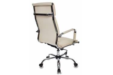 Кресло руководителя Бюрократ Ch-993 слоновая кость искусственная кожа крестовина металл хром