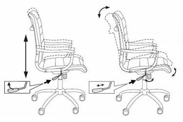 Кресло руководителя Бюрократ Ch-994 черный искусственная кожа крестовина металл хром