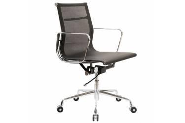 Кресло руководителя Бюрократ CH-996-Low/black низкая спинка черный сетка крестовина алюминий