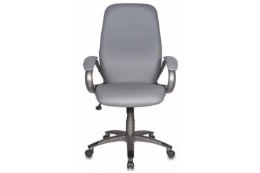 Кресло руководителя Бюрократ T-700DG/OR-17 серый Or-17 искусственная кожа (пластик темно-серый)