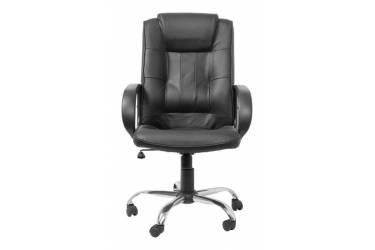 Кресло руководителя Бюрократ T-800AXSN черный кожа крестовина хром