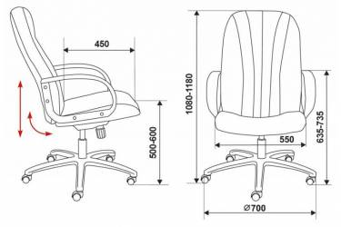 Кресло руководителя Бюрократ T-898AXSN/Black черный 8011