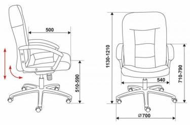 Кресло руководителя Бюрократ T-9908AXSN/F9 песочный F9 искусственный нубук
