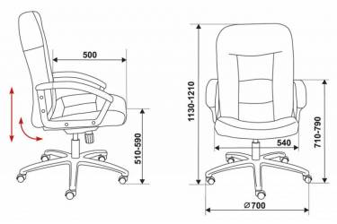 Кресло руководителя Бюрократ T-9908AXSN/MF102 коричневый MF102 микрофибра
