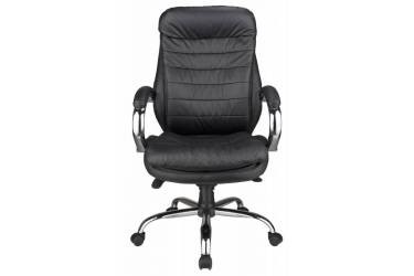 Кресло руководителя Бюрократ T-9950AXSN/Black сиденье черный кожа/кожзам крестовина хром