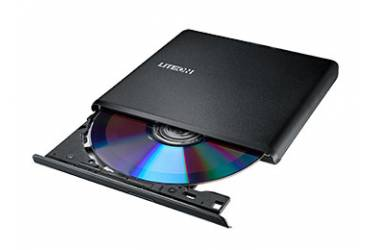 Привод DVD-RW Lite-On ES-1 черный USB slim внешний