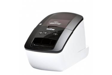 Принтер Brother QL-710W стационарный черный/белый