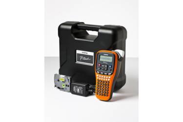 Принтер Brother P-touch PT-E100VP переносной оранжевый/черный