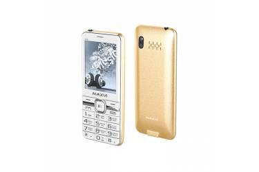 Мобильный телефон Maxvi P15 white-gold
