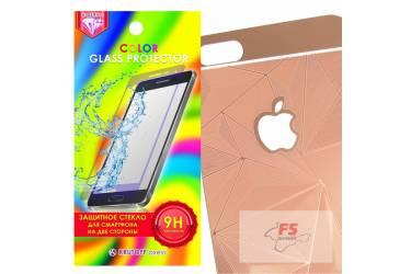 Защитное стекло цветное Krutoff Group для iPhone 6/6S на две стороны с 3D-рисунком (rose gold)