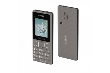 Мобильный телефон Maxvi C9 grey-black