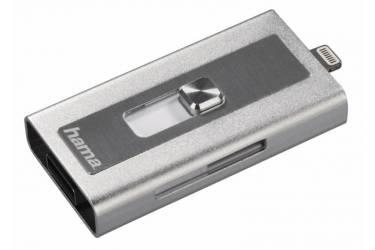 Устройство чтения карт памяти USB 2.0/Lightning Hama MoveData серебристый