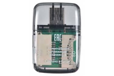 Устройство чтения карт памяти USB2.0 Buro BU-CR-110 черный (плохая упаковка)