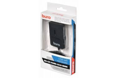 Устройство чтения карт памяти USB2.0 Buro BU-CR/HUB3-U2.0-0688 черный