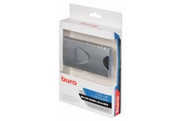 Устройство чтения карт памяти USB2.0 Buro BU-CR/HUB3-U2.0-1012 серебристый