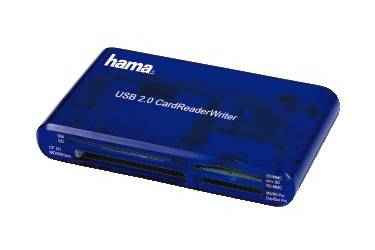 Устройство чтения карт памяти USB2.0 Hama H-55348 синий