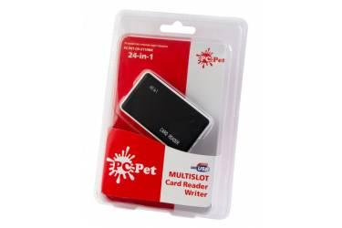 Устройство чтения карт памяти USB2.0 PC Pet CR-211RBK черный