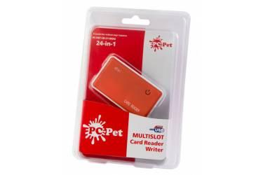 Устройство чтения карт памяти USB2.0 PC Pet CR-211ROG оранжевый