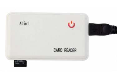 Устройство чтения карт памяти USB2.0 PC Pet CR-211RWH белый