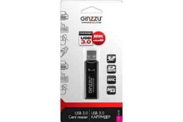 Устройство чтения карт памяти USB3.0 Ginzzu GR-311B черный