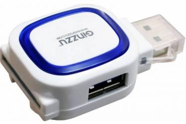 Устройство чтения карт памяти USB3.0 Ginzzu GR-514UB белый