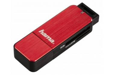 Устройство чтения карт памяти USB3.0 Hama H-123900 красный
