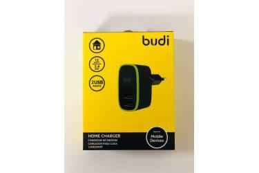СЗУ адаптер Budi M8J056E 2 USB 12W 2.4A черный в уп.