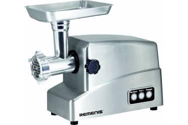Мясорубка REMENIS REM-5492 нерж 2800Вт 2,5кг/мин  реверс мет привод 3насадки 3решетки