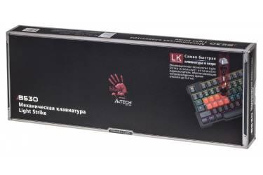 Клавиатура A4 Bloody B530 черный/красный USB Gamer LED (подставка для запястий)