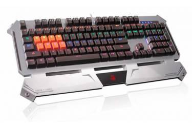 Клавиатура A4 Bloody B740A механическая серебристый/черный USB Gamer LED