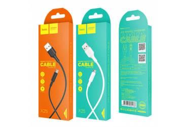 Кабель USB Hoco X25m Soarer MicroUSB (белый)