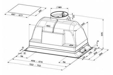 Вытяжка встраиваемая Faber Inca Plus HIP X A70 нержавеющая сталь управление: ползунковое (1 мотор)