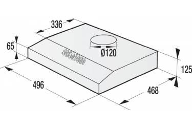 Вытяжка встраиваемая Gorenje WHU529EW/S белый управление: кнопочное (1 мотор)