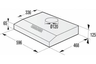 Вытяжка козырьковая Gorenje WHU629EB/S черный управление: кнопочное (1 мотор)