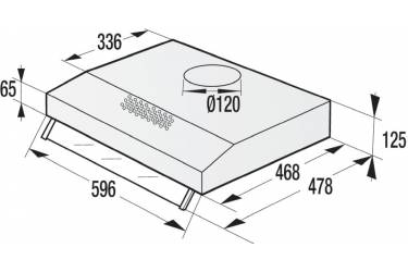 Вытяжка встраиваемая Gorenje WHU629EX/M нержавеющая сталь управление: кнопочное (1 мотор)