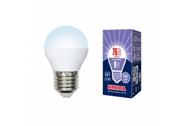 Лампа светодиодная Uniel Norma LED-G45-9W/DW/E27/FR/NR 6500K шар