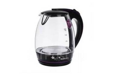 Чайник Scarlett SC-EK27g59 стекло/пл черный 1,8л 2200Вт