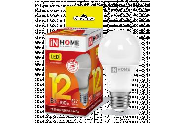 Лампа светодиодная IN HOME LED-A60-VC 12Вт 230В Е27 3000К 1080Лм