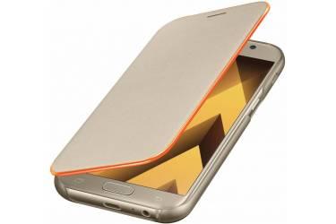 Оригинальный чехол (флип-кейс) для Samsung Galaxy A5 (2017) Neon Flip Cover золотистый (EF-FA520PFEGRU)