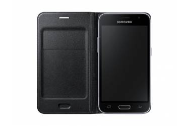 Оригинальный чехол Samsung J120 Black Flip Wallet