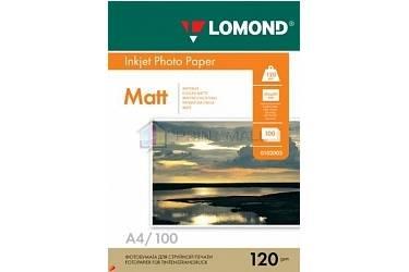 Фотобумага Lomond матовая A4 120 г/м2 100листов односторонняя  (0102003)