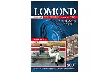 Фотобумага Lomond Premium суперглянцевая 10x15 см 200 г/м2 20л односторонняя (1101113)