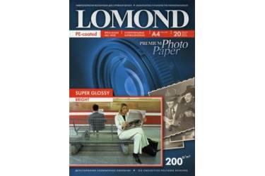 Фотобумага Lomond Premium Суперглянцевая A4 200 г/м2 20л  односторонняя (1101112)