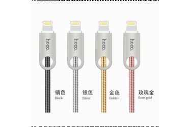 Кабель USB Hoco U8 Zinc alloy metal lightning Charging cable (1M) Чёрный