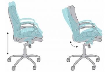 Кресло руководителя Бюрократ T-9950AXSN/Brown сиденье коричневый кожа/кожзам крестовина хром