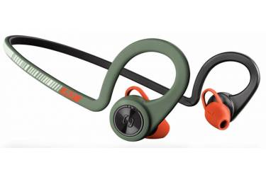 Гарнитура вкладыши Plantronics BackBeat Fit зеленый/оранжевый беспроводные bluetooth (крепление за ухом)