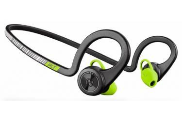 Гарнитура вкладыши Plantronics BackBeat Fit черный/зеленый беспроводные bluetooth (крепление за ухом)