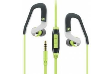 Гарнитура вкладыши Sennheiser OCX 686i SPORTS 1.2м серый/зеленый проводные (в ушной раковине)
