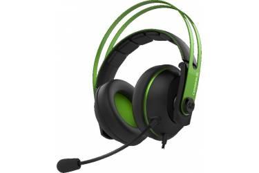 Гарнитура мониторы Asus Cerberus V2 1.2м зеленый/черный проводные (оголовье)