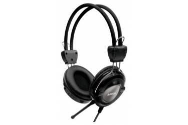 Наушники с микрофоном A4 HS-19 черный/голубой 2м накладные оголовье (HS-19-3)